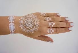 temporary tattoos weiße spitze für arm hand und finger flash