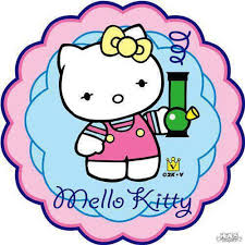 Hello Kitty Meme - mello kitty hello kitty spoof with bong weed memes weed memes