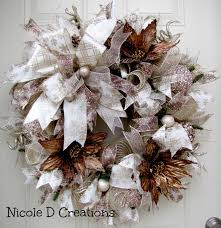 brown and chagne wreath by d creations etsy