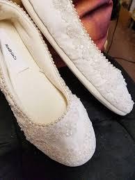 Wedding Shoes Kl Wedding Ivory Flats Vegan Shoes Embellished With Hand Sewn