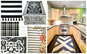 Black Kitchen Rugs Black And White Kitchen Rugs Or Vinyl Mat Tiles Pattern Decorative