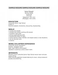 Resume Tips For Highschool Students Sample On How To Make Resume Resume For College Application