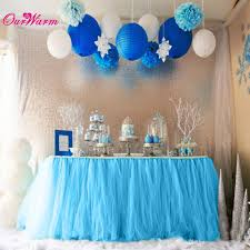 teal tulle customized tulle tutu table skirt for tutu baby shower decorations