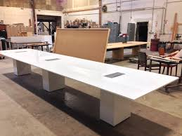 Back Painted Glass Conference Table Low Iron Back Painted White Tempered Glass With A Laminate Sub Top