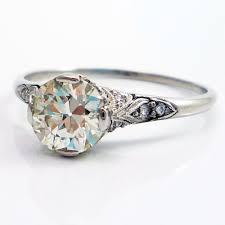 filigree engagement rings platinum antique edwardian european cut diamond filigree