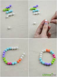 ideas for easter crafts making colorful bead bracelets for kids