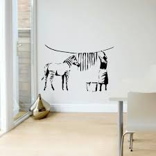large banksy wall stickers sticker creations aliexpress com banksy zebra stripes laundry room wall art banksy wall mural