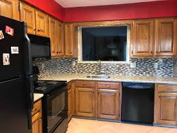are wood kitchen cabinets outdated outdated oak kitchen cabinets painted by payne