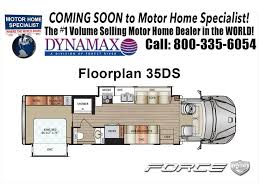 Rv Floor Plans Class C by 2018 Dynamax Corp Force Hd 35ds Super C Rv For Sale At Mhsrv 350hp