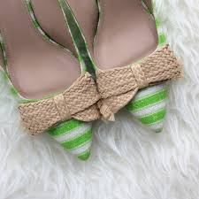 raffia bows j crew shoes hp j crew green striped raffia bow kitten heels