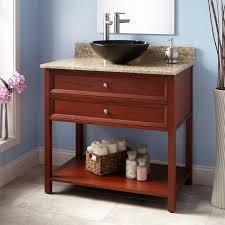 Bathroom Vessel Sink Vanity by Cherry Vessel Sink Vanity Signature Hardware