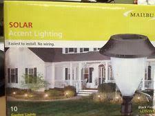 Solar Malibu Lights by Malibu Solar Accent Lighting Garden Lights Black Amber Led Ebay
