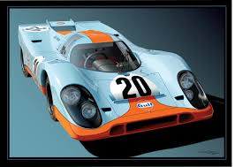 porsche 917 art tsmithartboard vector based artwork by an old artist