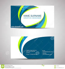 business card template or visiting card stock vector image 41305216