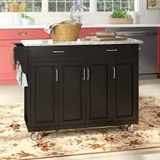 wayfair kitchen storage cabinets littrell kitchen island with granite top