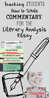 transitions from quote to explanation teaching students how to write commentary for the literary