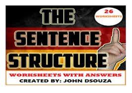 sentence structure worksheets with answers by john421969