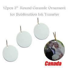 tree decorations 12pcs blank sublimation 3 ceramic