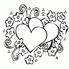 simple hearts coloring pages to print for preschoolers 0vjor