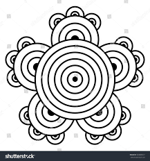 simple flower mandala pattern coloring book stock vector 520800517