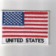 Embroidered American Flag United States Embroidered Patch With Name Country Flag United