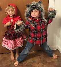 wolf halloween costumes little red riding hood and the big bad wolf boy twins
