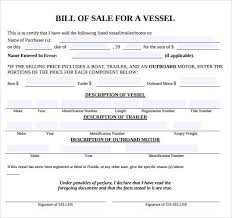 sample boat bill of sale template 7 free documents in pdf word