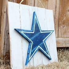 Dallas Cowboys Home Decor Dallas Cowboys Painted Wood Pallet Art Sign Wall Decor With