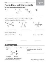 lines rays and line segments worksheets points lines and line segments reteach 16 1 worksheet