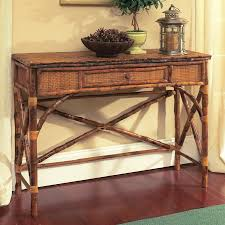 Rattan Console Table Coastal Bamboo Console Table Beblincanto Tables Best Idea