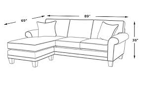 cindy crawford home madison place sand 2 pc sleeper sectional