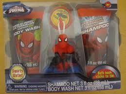 Marvel Bathroom Set Marvel Spiderman Bath Soap U0026 Scrub Body Wash Shampoo Boys