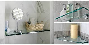 glass shelves for bathrooms reflections