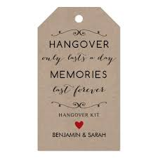 wedding favor tags hangover kit tags wedding favor tags zazzle