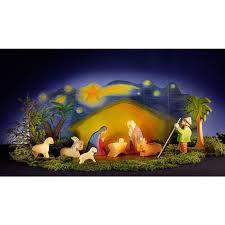 wooden nativity set ostheimer nativity set diorama wooden figures gift box