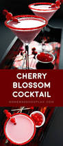 martini toast cherry blossom cocktail homemade hooplah