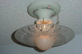 Vintage Porcelain Light Fixtures Antique Shade On Vintage Porcelain Lighting Fixture