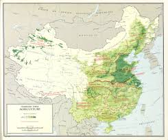 Maps Of China by Large Scale Detailed Agriculture Map Of China U2013 1967 Vidiani Com