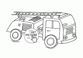 small fire truck coloring page for kids transportation coloring