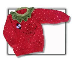 strawberry sweater strawberry sweater jumper 3 mths to 4 yrs tbee cosy