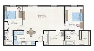 2 bedroom home floor plans two bedroom apartment floor plan larksfield place