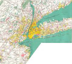 Map New York State by Large Detailed Road Map Of New York City And Its Environs Nymap