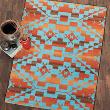 Red Turquoise Rug Southwest Rugs And Cowhide Rugs Lone Star Western Décor