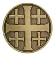 jerusalem cross coin called you rcia candidate