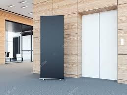 bureaux modernes vide retrousser bunner dans de bureaux modernes rendu 3d