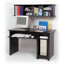 Small Computer Desk With Hutch by Funiture Computer Desk For Home Ideas With Small Black Wood Wall