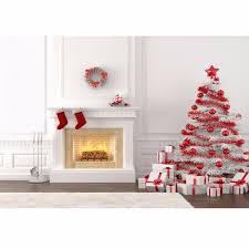 2 1x1 5m 7x5ft christmas tree fireplace photography vinyl