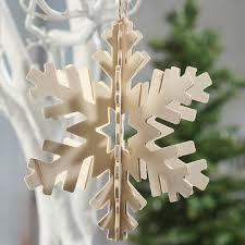 3d unfinished wood snowflake ornament wood cutouts unfinished