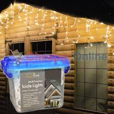 snowtime outdoor led multi function icicle lights in