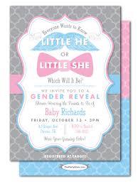 gender reveal baby shower gender reveal baby shower invitations he or she